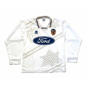 🔥Original Valencia 90's Home Long Sleeve Football Shirt Luanvi - Size S🔥