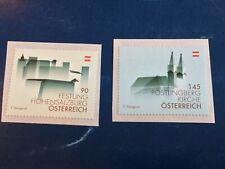 Austria 2013 Buildings Self Adhesive Mnh Scott#2460-61 Nice Stamps Fv 2.4€