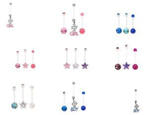 Pregnancy / Maternity belly naval bars bar  PFTE Retainer - Various Designs