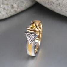 Ring mit ca. 0,50ct Diamant und ca. 0,50ct Saphir in PT950 Platin und 750/18K GG