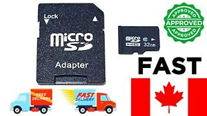 Micro SD Card 32GB High Speed MicroSD UHS-I U1 Flash TF Class (SD Card Adapter)