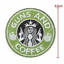 Tactical Guns And Coffee Hook Loop Morale Military Embroidered Patch Starbucks.