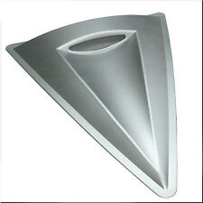 CAR HOOD ROOF AIR FLOW SCOOP DECORATION VENT COVER BIG TRIANGLE SILVER