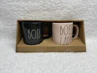 New Rae Dunn BOSS & BOSS LADY Mug Set