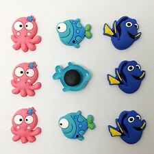 9pcs Lovely Fish Octopus Shoe Charms Fit Jibbitz Clog Sandle Wristbands kid Gift