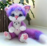 "OOAK Artist teddy bear cat 7""  OOAK Artist teddy bear kitten 7"""