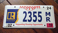 Mississippi SUPPORT HOUSING REALTOR License Plate REALTY