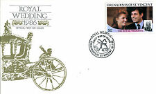 St VINCENT GRENADINES 18 JULY 1986 ROYAL WEDDING FIRST DAY COVER (a)