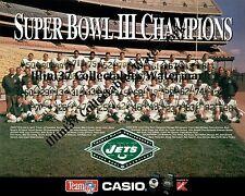 1968 NEW YORK JETS NFL SUPER BOWL 3 III CHAMPIONS 8X10 TEAM PHOTO