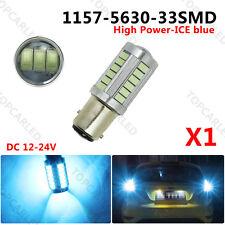 1x LED BAY15D S25 1157 Fog Ice Blue Led Turn Signal light 33SMD 5630 800LM 12V