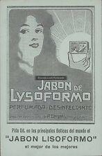 CHILE POSTAL STATIONARY JABON DE LYSOFORMO ADVERTISIGN