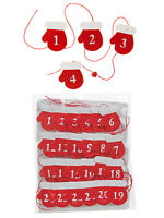 24 Christmas Card Advent Calendar Pegs Hanging Holder Numbers Decoration Santa