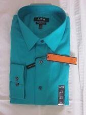 New $45.00 APT.9 Men Quality Long Sleeve Green Stretch Shirt Size: 16 34/35