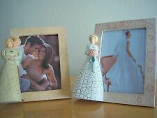 Unique handmade 2  Bridal  country style pictures frame set  5 X 7 in.