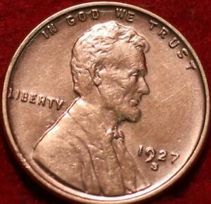 Uncirculated Red 1927-S San Francisco Mint Copper Lincoln Wheat Cent