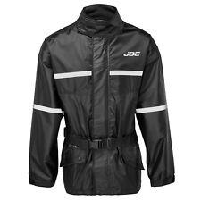 Jdc Motorcycle Motorbike Waterproof Rain Over Jacket Hi-Vis Black/Yellow Shield