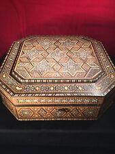 Fine Large Indian Vizagapatam Inlaid Hardwood Box c.1900, Superb Item