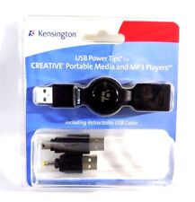 Kensington USB Power Tips & Retractable USB Cable for MP3 Players. NEW!