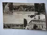 Ansichtskarte Oberröslau Fichtelgebirge 50er Rathaus Total Siedlung Ludwigsfeld