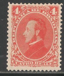 Honduras #35 (A4) VF MINT OG - 1878 4r President Francisco Morazan