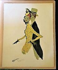 """Jean-Gabriel DOMERGUE """"Couple au théâtre"""" 1956"""