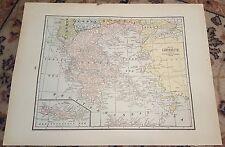 "12"" X 16"" Antique 1924 JUGO-SLAVIA/BALKAN-STATES & GREECE Map(2 Sided)"