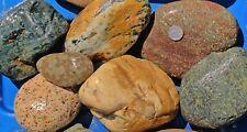 30 lbs Lot #8 Extra Large Colorful River Rocks Water Feature Aquarium Landscape