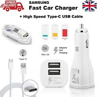 Official Samsung S10 S10+ S10E Dual Port Adaptive Fast Car Charger + Type C USB