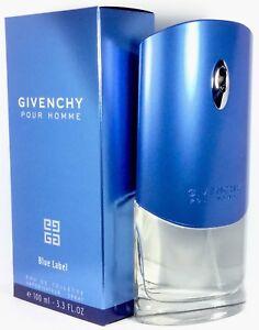 GIVENCHY Pour Homme BLUE LABEL 100ml Eau De Toilette EDT & OriginalVerpackt