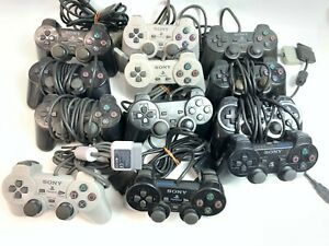 SONY Play Station 2 controller Dual Shock 2 Black PS2 JUNK Lot of 12 Japan Fedex