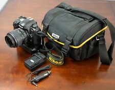 Nikon D D100 6.1MP Digital SLR Camera 18-55mm VR Lens + Grip & Carrying Bag