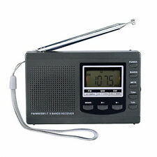 Digital FM/MW/SW1-7 9 Bands Portable Rechargeable Radio Stereo Fm Radio Receiver
