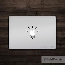 Light Bulb - Mac Apple Logo Laptop Vinyl Decal Sticker Macbook Power Funny