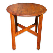 c30a18d87f4dd Antique Arts   Crafts Mission Oak Round Farmhouse Table Stickley Roycroft  Era