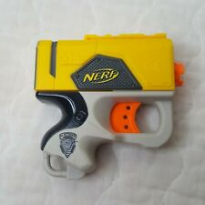 Nerf MINI N Strike Gun Manual Pull Yellow Gray Black Orange