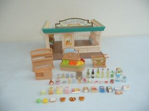 Sylvanian families village store with accessories