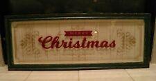 Pottery Barn Large Christmas Hanging Merry Christmas Most Wonderful Time NIB