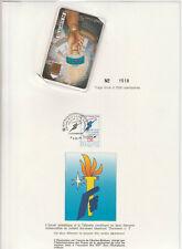 Télécarte editions CEF N°4 avec encart Flamme Olympique
