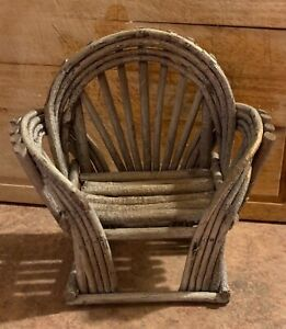 Rustic woven doll chair