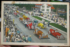 c1940/1951 Line-up of Grand Prix Race at Watkins Glen New York postcard view