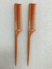2PCS ANNIE TEASE COMB #28 VERY FINE TOOTH COMB FOR TEASING WITH RAT TAIL COMB