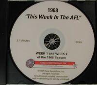 """1968 Pro Football """"This Week In The AFL"""" (Week 1 & 2) W/ Charlie Jones on DVD!"""