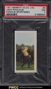 1971 Barratt Famous Sportsmen Jack Nicklaus ROOKIE RC #6 PSA 7 NRMT
