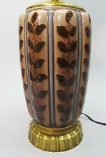 Large & Fine SIGNED ROOKWOOD Hand-Painted Pottery Lamp  c. 1940   antique