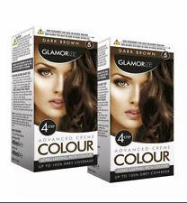2 x Glamorize creme colour permanent hair dye - shade no 5 - Dark Brown