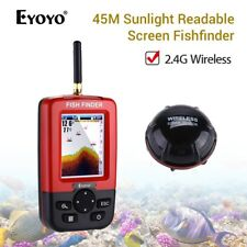 Portable Wireless Sonar Fish Finder With Sunlight Readable Screen 45M Depth