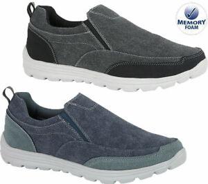 Mens Get Fit Slip On Memory Foam Casual Walking Driving Boat Shoes Sneakers Sz
