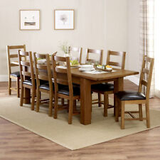 Unbranded Oak More than 8 Pieces Table & Chair Sets