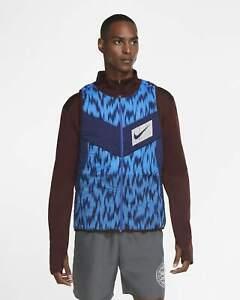 Nike AeroLayer Wild Run Vest CU6058 624 Brown/Blue-Silver New Men's Size XL
