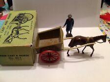Britains Farm Cart & Horse plus figure in repro box. (my ref Y 52A) No. 40F